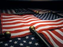 Lit della bandiera americana in su fotografie stock libere da diritti