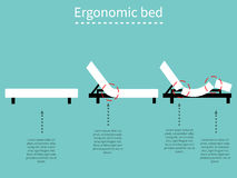 Lit ergonomique 1 Photo stock