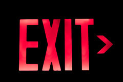 Lit Exit Sign Royalty Free Stock Images