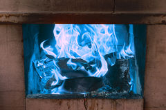 Lit the fire for barbecue Royalty Free Stock Images