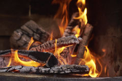 Lit the fire for barbecue Royalty Free Stock Image