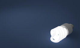Lit Fluorescent Lightbulb Royalty Free Stock Photo