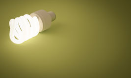 Lit Fluorescent Lightbulb Royalty Free Stock Image