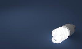 Lit Fluorescente Lightbulb Royalty-vrije Stock Foto
