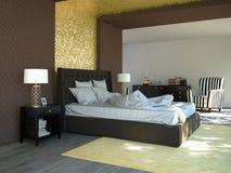 lit grand dans une chambre dhtel daffaires 3d image libre de droits - Chambre Dhotel De Luxe