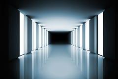 Lit herauf moderne Halle Stockbilder