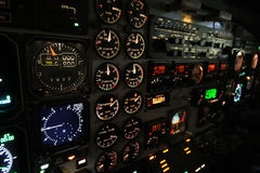 Lit instrument panel B1900 Stock Photos