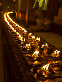 Lit-Kaarsen bij Shwedagon-Pagode, Yangon, Myanmar Stock Afbeeldingen