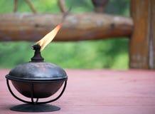Lit Lamp on Deck Royalty Free Stock Photo