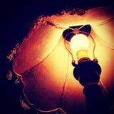 Lit lamp Stock Photo