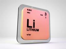 Lit - Li - chemicznego elementu okresowy stół Fotografia Royalty Free