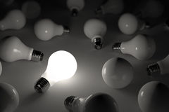 Lit light bulb Royalty Free Stock Photos