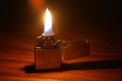 Lit lighter Stock Image