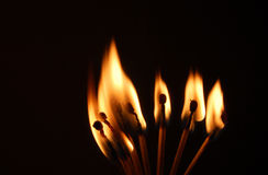 Lit Matches Royalty Free Stock Images