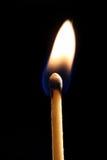 Lit Matchstick. A lit matchstick stock photos