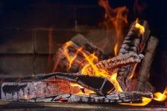 Lit o fogo para o assado Imagem de Stock