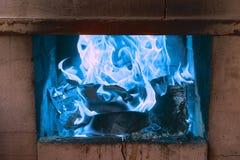 Lit o fogo para o assado Imagens de Stock Royalty Free