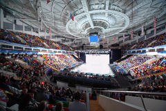 Lit rink in Palace of Sports Megasport Stock Photos