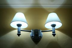 Lit Room Lamps stock images