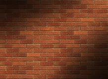 Lit rossa del muro di mattoni diagonalmente Fotografia Stock