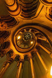 Lit spiral staircase Stock Image