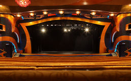 Lit Stage In Theater At Liner Costa Luminosa Stock Image