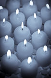 Lit table candles Stock Image