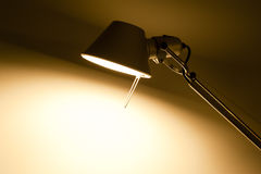 Lit table lamp with available copyspace Royalty Free Stock Images