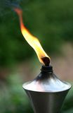 Lit torch with orange flame Stock Image