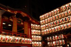 Lit uo lanterns Stock Images