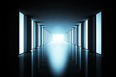 Lit up modern hallway Stock Image