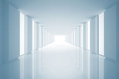 Lit up modern hallway Royalty Free Stock Photos
