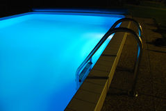 Lit Up Swimming Pool Royalty Free Stock Image
