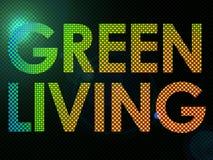 Lit vivente verde del segno con il LED in uno stile funky royalty illustrazione gratis