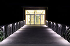 Lit Walkway and Entrance Stock Photography