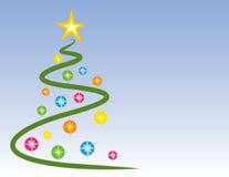 Lit-Weihnachtsbaum Stockfotografie