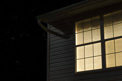 Lit Window Of Building Exterior Royalty Free Stock Image