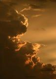 Lit-Wolken stockfotografie