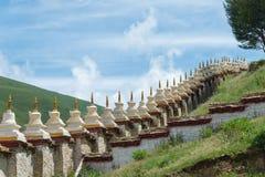 LITANG, КИТАЙ - 17-ое июля 2014: Ganden Thubchen Choekhorling Monast Стоковая Фотография