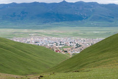 LITANG, CHINA - Jul 18 2014: Grasslands at Litang town. a famous Royalty Free Stock Photography