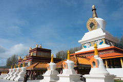 LITANG, CHINA - Jul 17 2014: White pagoda park. a famous landmar Royalty Free Stock Images