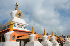LITANG, CHINA - Jul 17 2014: White pagoda park. a famous landmar Royalty Free Stock Photo