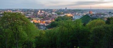 Litauen. Alte Stadt Vilnius im Frühjahr Lizenzfreies Stockfoto