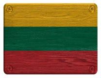 Litauen flagga Fotografering för Bildbyråer
