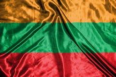 Litauen flagga flagga på bakgrund Royaltyfri Bild
