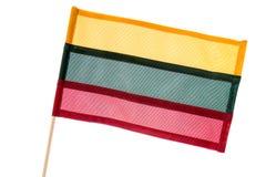Litauen flagga som isoleras på vit Arkivfoto