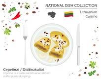Litauen kokkonst Europeisk nationell maträttsamling lithuanian vektor illustrationer
