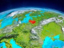 Litauen på jord Arkivfoton