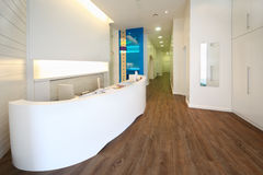 Litaufnahmebereich in der zahnmedizinischen Klinik. Lizenzfreies Stockfoto