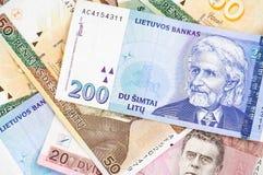 Litauische Banknoten Lizenzfreies Stockbild